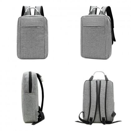 4GL Black & Grey Backpack Bag Pack School Bag Beg Sekolah Bag Sekolah Laptop Bag