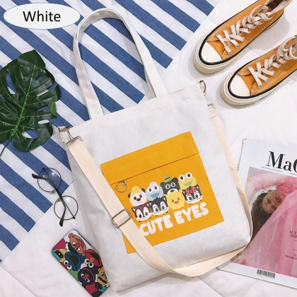4GL Cute Eyes Sling Bag Women Bag Tote Bag Crossbody Bag Handbag Beg