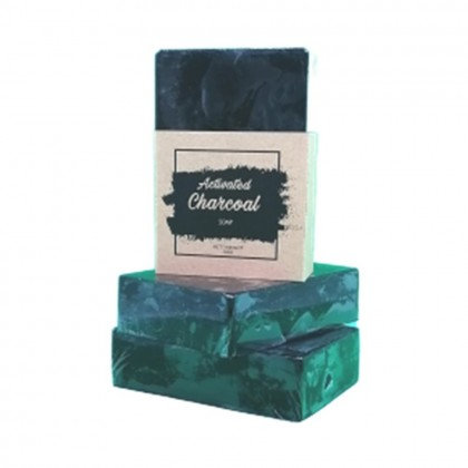 4GL Activated Charcoal Rice Milk Soap 100% Handmade Soap Bar
