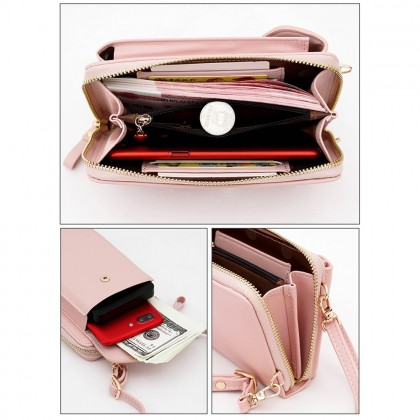 4GL Forever Young ZL8591 Long Purse Women Handphone Purse Wallet Dompet Crossbody Sling Bag Beg
