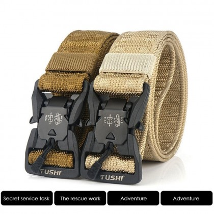 4GL Tushi Military Belt Fashion Plain Canvas Belt Tali Pinggang