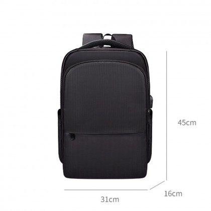 4GL Premium Black Backpack Bag Pack School Laptop Bag Beg Sekolah Bag Sekolah