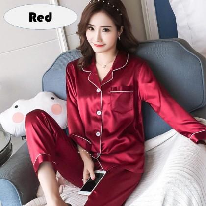 4GL WOMEN SILK SATIN 001 Pyjamas Women Pajamas Sleepwear Women Baju Tidur Wanita Baju Tidur Perempuan Baju Tido