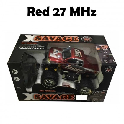 4GL X Savage RC Car 1:24 Big Foot Off Road High Speed Remote Control Car Toy Mainan Budak With Batteries