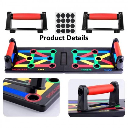 4GL Foldable Multifunctional Push Up Rack Board Men Women Exercise Workout Board